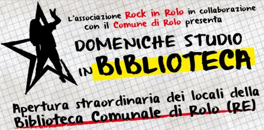 DOMENICHE STUDIO IN BIBLIOTECA